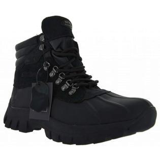 Kingshow KINGSHOW Black Men Warm Waterproof Rain Leather Boots Size 10