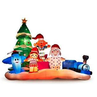 Rudolph Inc Huge The Rednose Reindeer Island Of Misfit Toys Christmas Inflatable Misfi