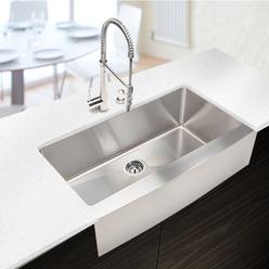 Starstar 33x19 Stainless Steel Farmhouse Kitchen Sink Undermount Single Bowl 16 Gauge