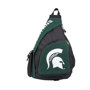 """Northwest Michigan State Spartans Sling Backpack """"Leadoff"""" 20""""x12""""x7""""OFFICIAL NCAA PartNumber: SPM12450368630"""