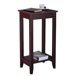 Goplus Tall End Table Coffee Stand Night Side Nightstand Accent Furniture Brown PartNumber: SPM14223047024