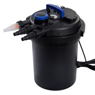 Goplus Pond Pressure Bio Filter 4000GAL W/ 13W UV Sterilizer Light 10000L Koi Water PartNumber: SPM14841250524
