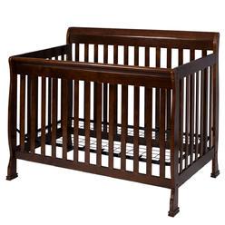 Goplus Coffee Pine Wood Baby Toddler Bed Convertible Crib Nursery Furniture Children