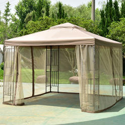 Goplus Outdoor 10 X10 Gazebo Canopy Shelter Awning Tent Patio Garden New