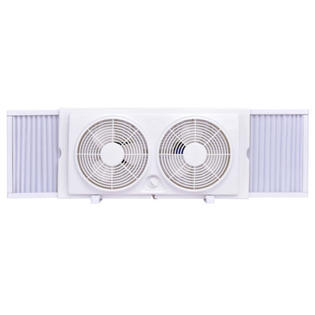 "Goplus 7"" Dual Blade Twin Window Fan 2-Speed Setting Reversible AirFlow Manual Control PartNumber: SPM15247220824"