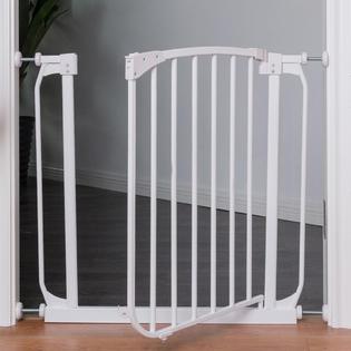 Goplus Baby Safety Gate Door Walk Through Toddler Child Pet Metal