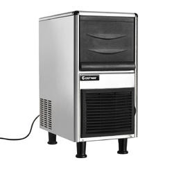 Costway Stainless Steel Commercial Ice Maker 110lbs 24h Freestanding Restaurant Bar New