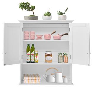 Goplus Wall Mount Bathroom Cabinet Storage Organizer Medicine Cabinet  Kitchen Laundry