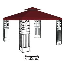 Sunrise Umbrella Double Tier Replacement Cover For 10 X10 Gazebo Canopy Top Patio Pavilion