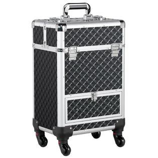Kanstar Aluminum Cosmetic Case Rolling