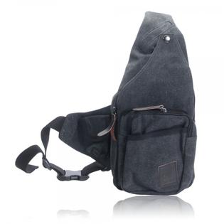 Sondoongmart Unisex Canvas Bag Chest Bag Messenger Bag Black