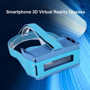 Focalmax DR1A Ultra Light Foldable VR Accordion Scati VR Glasses for 4.5-6 inch Smartphones Blue PartNumber: SPM14750111424