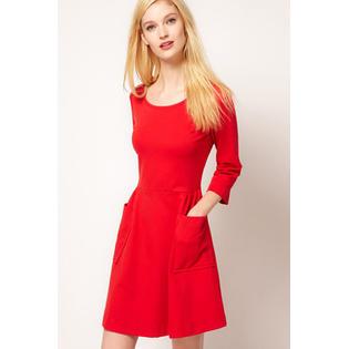 ZUMEET WOMEN'S AUTUMN FASHION A-LINE MINI SKIRT DRESS RED PartNumber: 000000000000101551910000000000000ZWWD062P