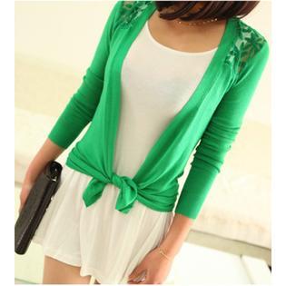 Zumeet Women Evening Top Sheer Lace Long Sleeves Top Shirt and Blouse Green PartNumber: 00000000000010155191000000000000ZWWSB832P