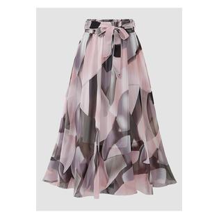 3bcbf9ff9a Zumeet Women Floral Chiffon Flare Summer Skirt