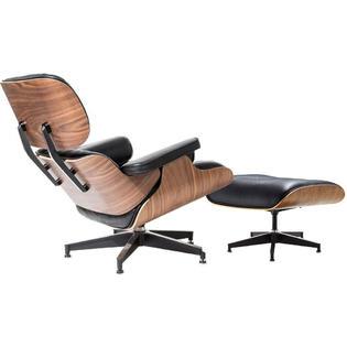 Eames Lounge Stoel Replica.Homelala Black 100 Genuine Real Italian Leather Classic Eames