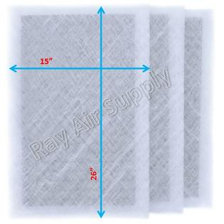 Dynamic Air Cleaner Replacement Filter Pads 16 1/2 X 28 1/2 Refills (3 Pack) WHITE PartNumber: SPM10619452620