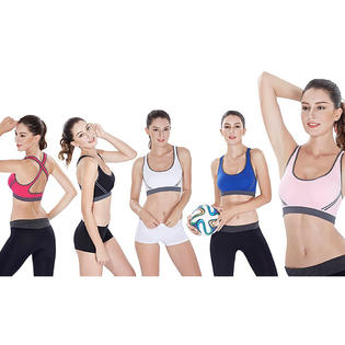 Alphabetdeal High-Impact Sports Bras (5-Pack) PartNumber: 0000000000001015689700000000000000005901P