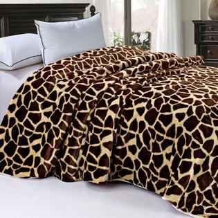 BNF Home Animal Nature Faux Fur & Sherpa Backing Blankets