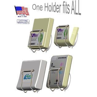 EZ Pass-Port, Suction Cup Indestructible holder Old & Mini EZ Passes (not the Flex), I Pass, I Zoom, PalPass hard case & FasTrak PartNumber: SPM9475114832