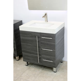 Windbay 30 Free Standing Bathroom Vanity Sink Set Vanities Sink Dark Grey