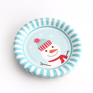 Kinbor Winter Holiday Christmas Theme Party Dinnerware Supplies Disposable Includes Paper Plates (18 pieces) Napkins (25 pieces  sc 1 st  Kmart & Kinbor Winter Holiday Christmas Theme Party Dinnerware Supplies ...