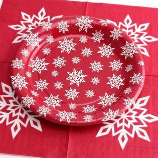 Kinbor Kinbor Winter Holiday Christmas Theme Party Dinnerware Supplies Disposable Includes Paper Plates (18 pieces  sc 1 st  Kmart & Kinbor Winter Holiday Christmas Theme Party Dinnerware Supplies ...
