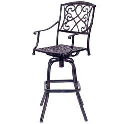florence cast aluminum outdoor swivel bar stool