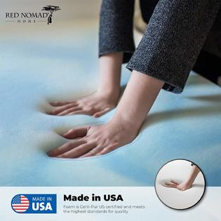 3ac0ac435f Red Nomad - King Size 3 Inch Thick, Ultra Premium Gel Infused Visco Elastic  Memory Foam Mattress Pad Bed Topper - Made in The US