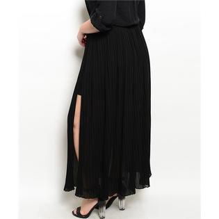 Plus Size Accordion Pleat Thigh Slit Maxi Skirt PartNumber: 000000000000000128960000000000000002414xP