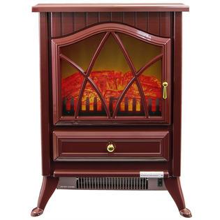"16"" Electric Fireplace Heat Tempered Glass Freestanding Logs Adjustable 5200 BTU 1500W Heater 2 Setting LED Plug Play PartNumber: SPM7971637007"