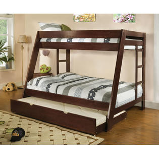 Hollywood Decor Vittoria Twin over Full Bunk Bed with Twin Trundle