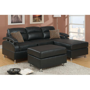 Hollywood Decor Veria Sectional Sofa in Bonded Leather