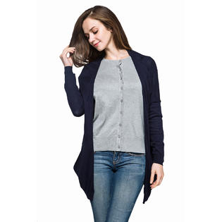 88800d24b2d www.virtualstoreusa.com Women Plus Size Cardigan Knitted Sweater Long  Sleeve Solid Color Thin