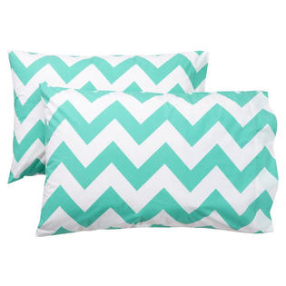 Ivy Union Santa Cruz Turquoise Chevron Twin XL 3 Piece Sheet Set