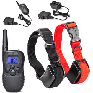 328Yd Waterproof Rechargeable 100 Level Shock Remote LCD Pet Dog Training Collar For Two Dogs PartNumber: SPM4028506821