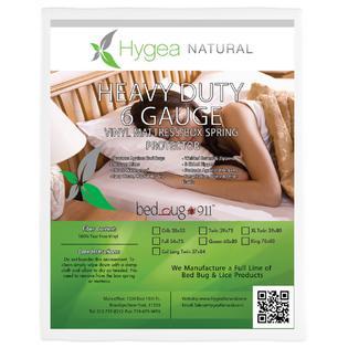 Hygea Natural XL Twin / California King Size Vinyl Bed Bug Mattress Cover | 100% Waterproof, Hypoallergenic Mattress Protector - ...