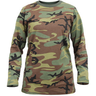 Rothco Womens Woodland Camouflage Long Length Military T-Shirt 3d5615f8a