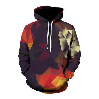 Unomatch Men 3D Printed Long Sleeve Spring & Autumn Hoodie PartNumber: A029244249