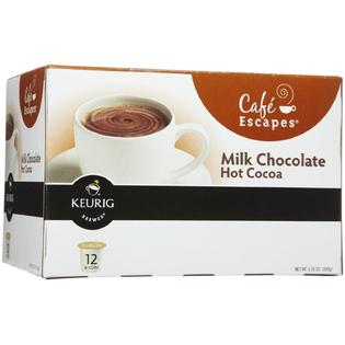 Cafe Escapes Milk Choc. Hot Cocoa K-Cups 6 boxes of 12 k cups each (72 k cups) PartNumber: SPM8665474226