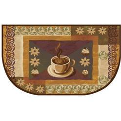 home dynamix living classics coffee kitchen rug half moon wedge slice non skid back