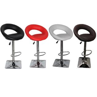 Container Furniture Direct Daisy Adjustable Swivel Bar Stools-4 Color Option (Set of 2)