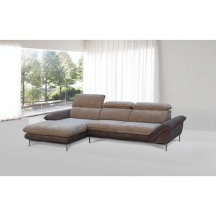 Container Furniture Direct Kyle Soft Flocking Fabric Sectional Sofa
