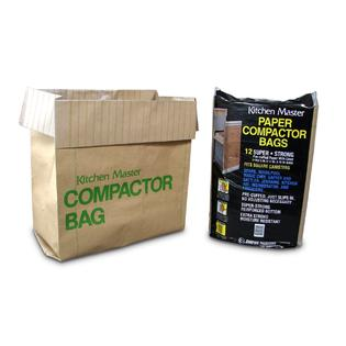 Kitchenmaster Paper Trash Compactor Bags 24 Pack