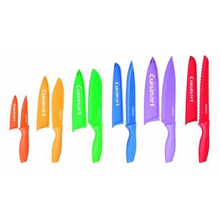 Cuisinart Cuisinart Advantage 12-Piece Knife Set, Bright (6 knives and 6 knife covers free S/H
