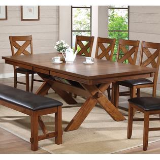 Acme United Apollo Contemporary 8pcs Dining Set Walnut Dining Table