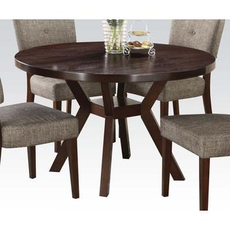 Acme United Espresso Finish 5pc Dining Set Round Dining Table