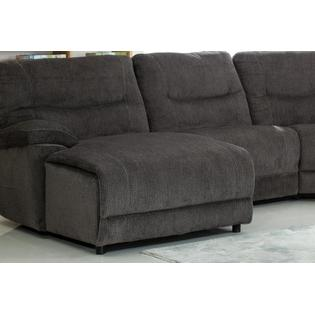 Esofastore Esofastore Large Sectional Sofa Set Console Cup Holder Chaise  Wedge Sofa Recliner Couch Gray Chenille