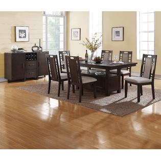 Esofastore Contemporary Kitchen Dining Room 7pc Set Dining Table W  Functional Space Padded Grey Hues Side