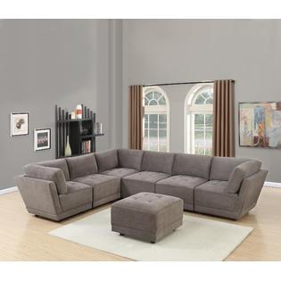 Terrific Esofastore Modern Modular Sectional Sofa 7Pc Set Waffle Uwap Interior Chair Design Uwaporg
